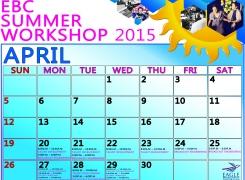 EBC Summer Workshop Schedule
